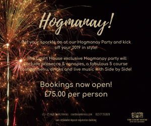 Hogmanay at the Court House 2018